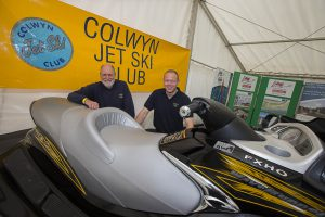 All Wales Boat Show at Conwy. John Reid and Andy Taylor of Colwyn Jet Ski Club.
